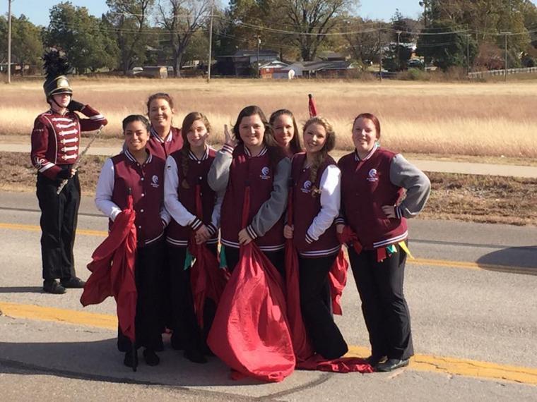 Color guard in parade
